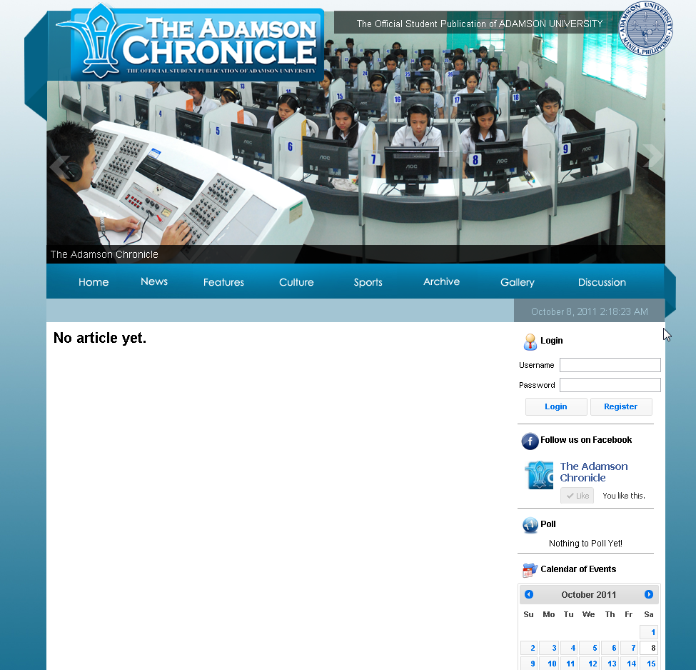 The Adamson Chronicle Website